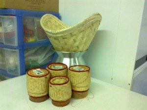 cesto bambù per cucinare a vapore