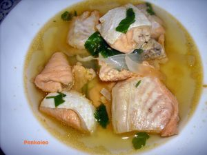 zuppa salmone curry